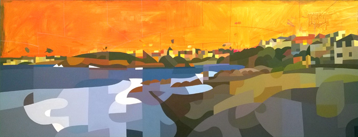 Painting of Gordon's Bay, Sydney 10.3.14